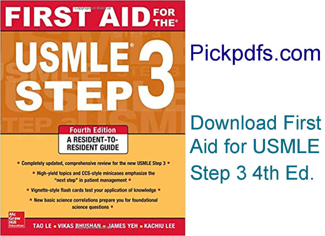 First Aid for the USMLE Step 3 4th Edition Free PDF Download