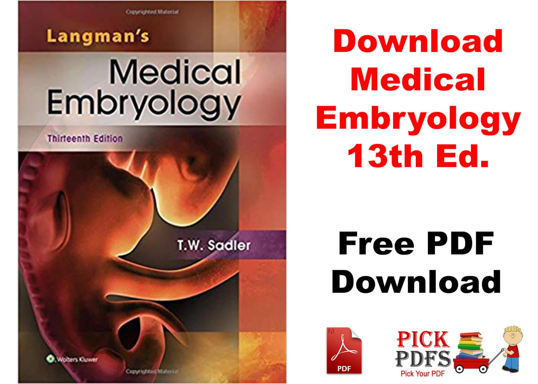 Medical embryology free medical pdf