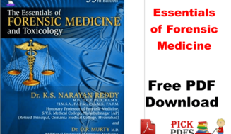 Essentials of Forensic Medicine By Narayan reddy free pdf book download