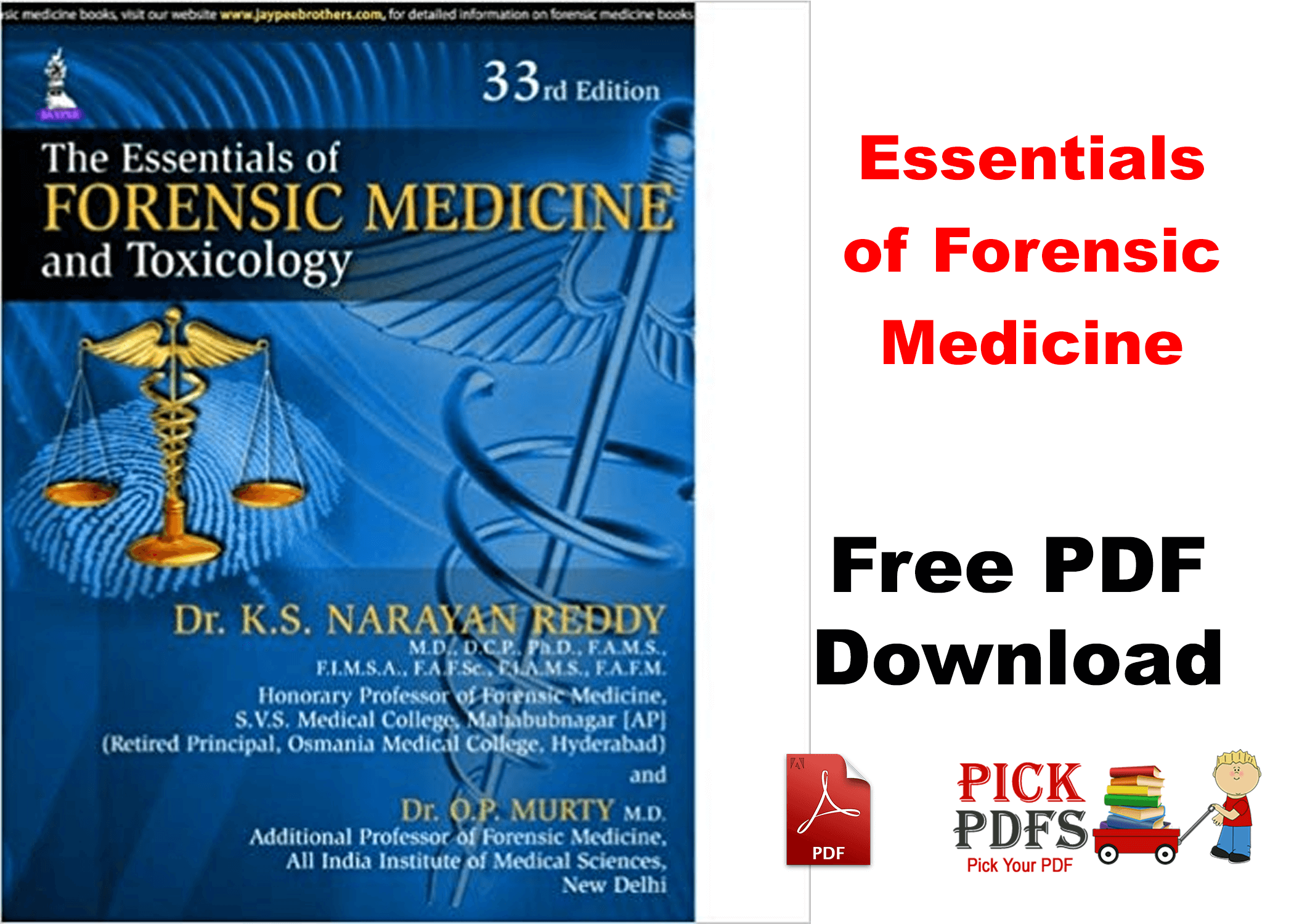 Essentials Of Forensic Medicine By Narayan Reddy Free Pdf Book Download Pickpdf